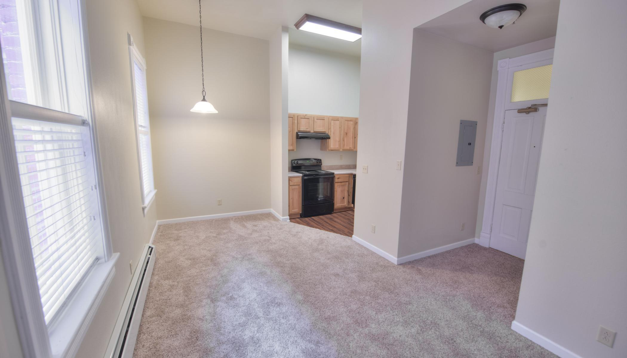 Living room space in our floor plans at Tabor Grand Hotel Apartments