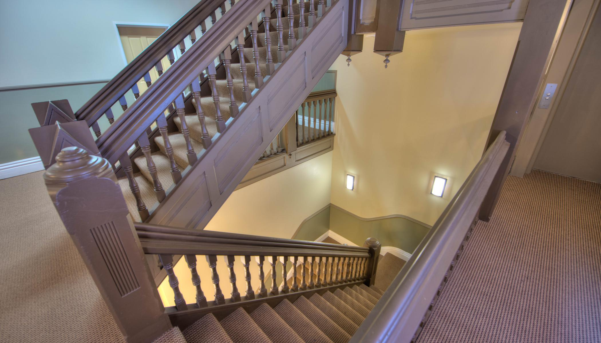 Stairs of our apartments at Tabor Grand Hotel Apartments