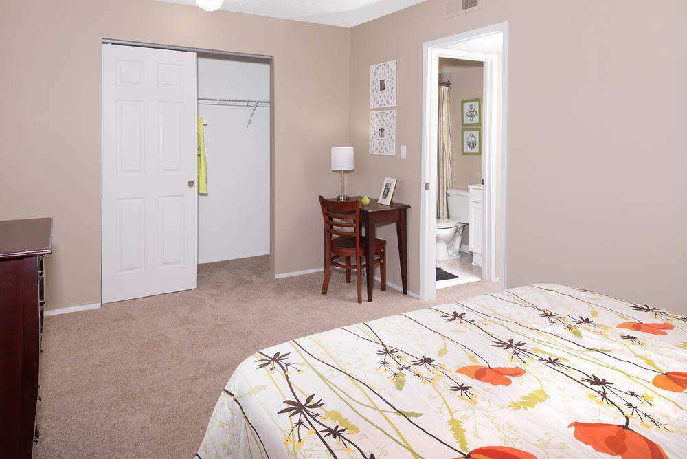 Spacious bedroom at University Village in Carbondale