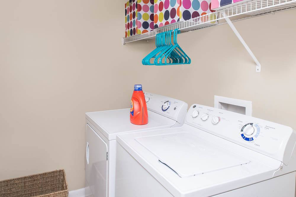 Apartments feature large laundry rooms at University Village in Carbondale