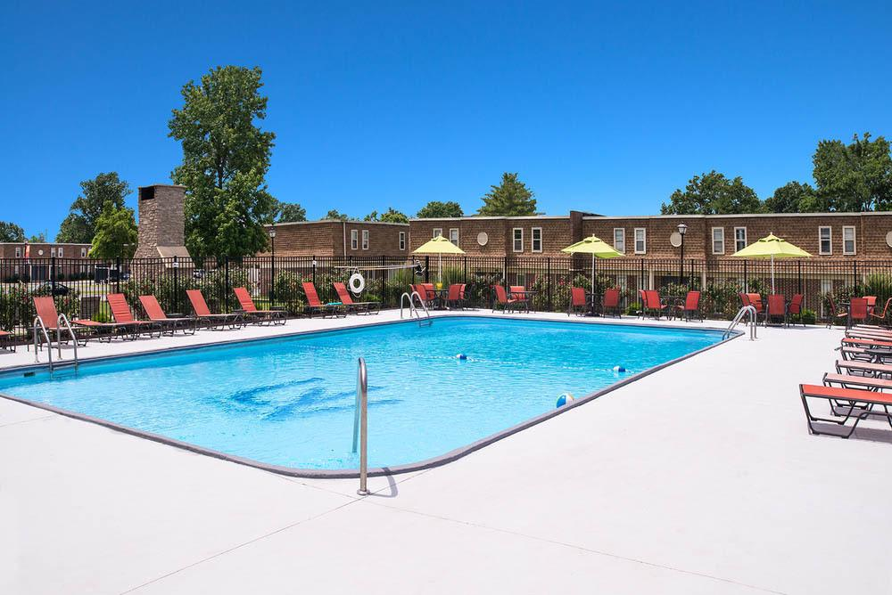 Sparkling outdoor pool at University Village
