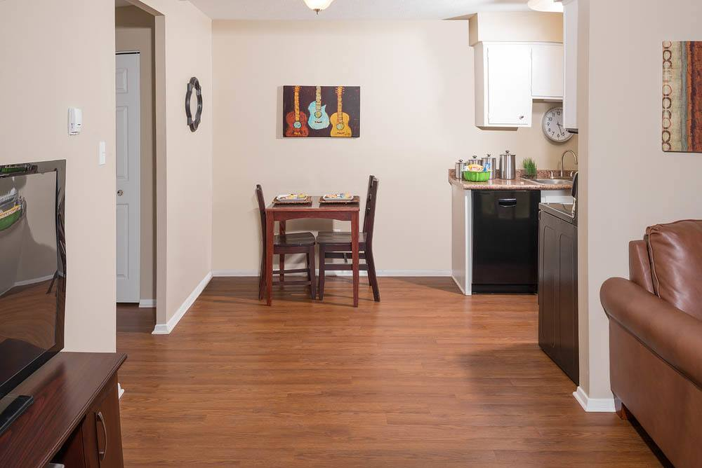 Furnished options available at University Oaks