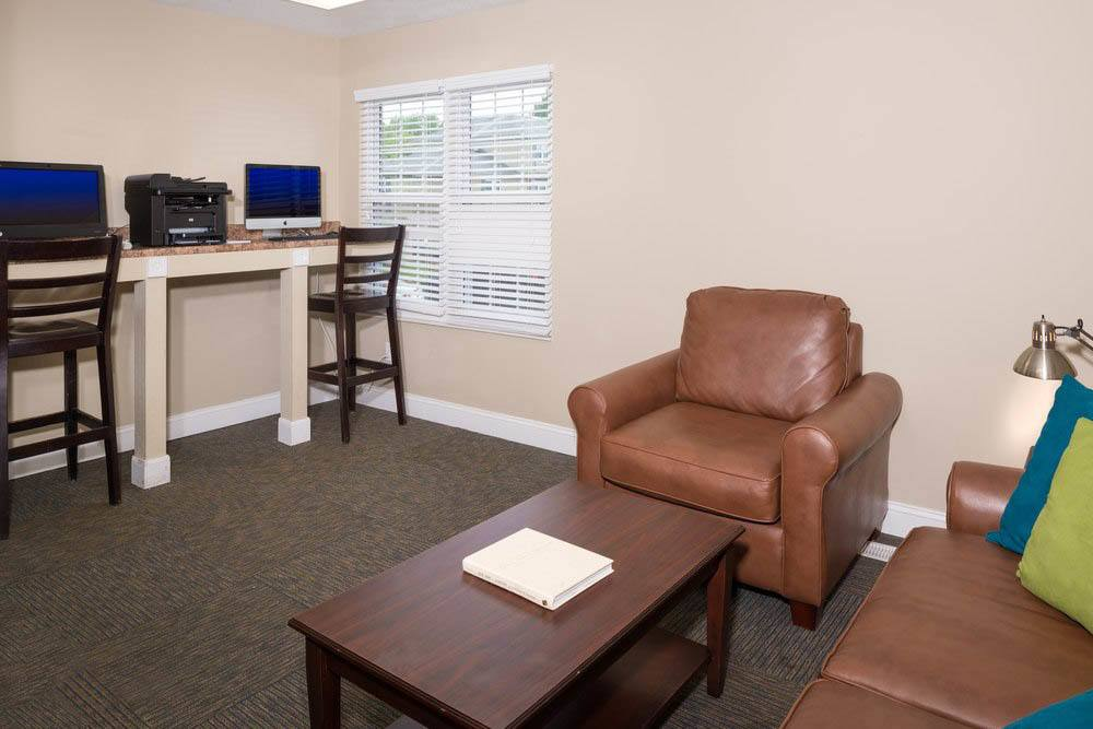 Community business center at Apartments in