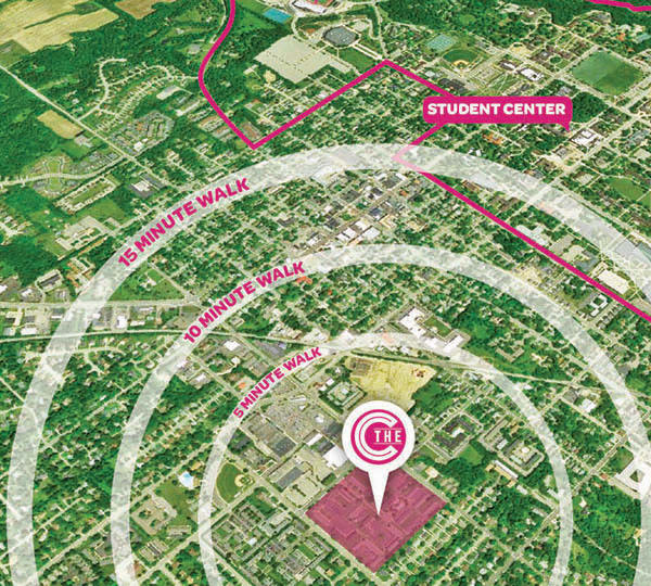 The Commons proximity to campus