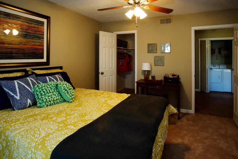 Bedroom at apartments in Lubbock