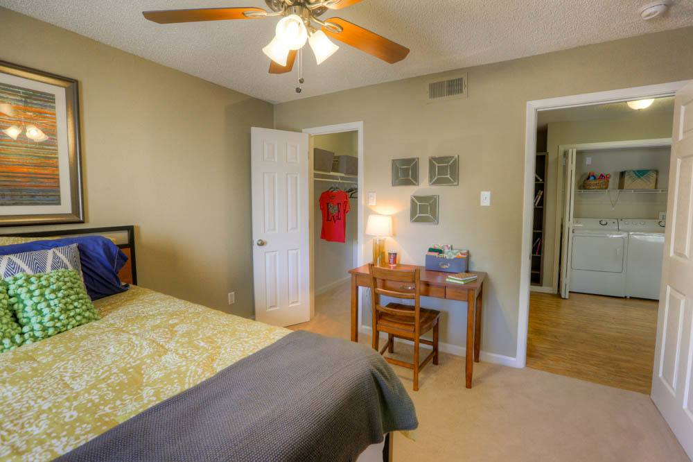 Bedroom layout in apartment at Raiders Walk Apartments in