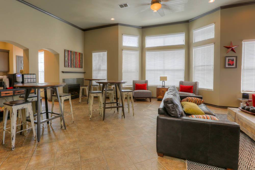 Community center at Apartments in Lubbock