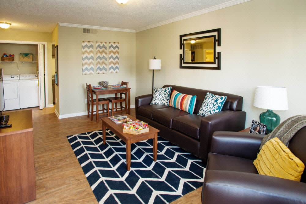 Large living room at Raiders Walk Apartments in Lubbock