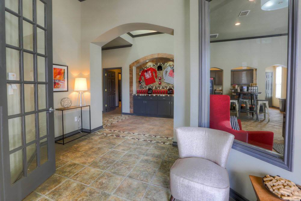 Front lobby at Raiders Walk Apartments in Lubbock
