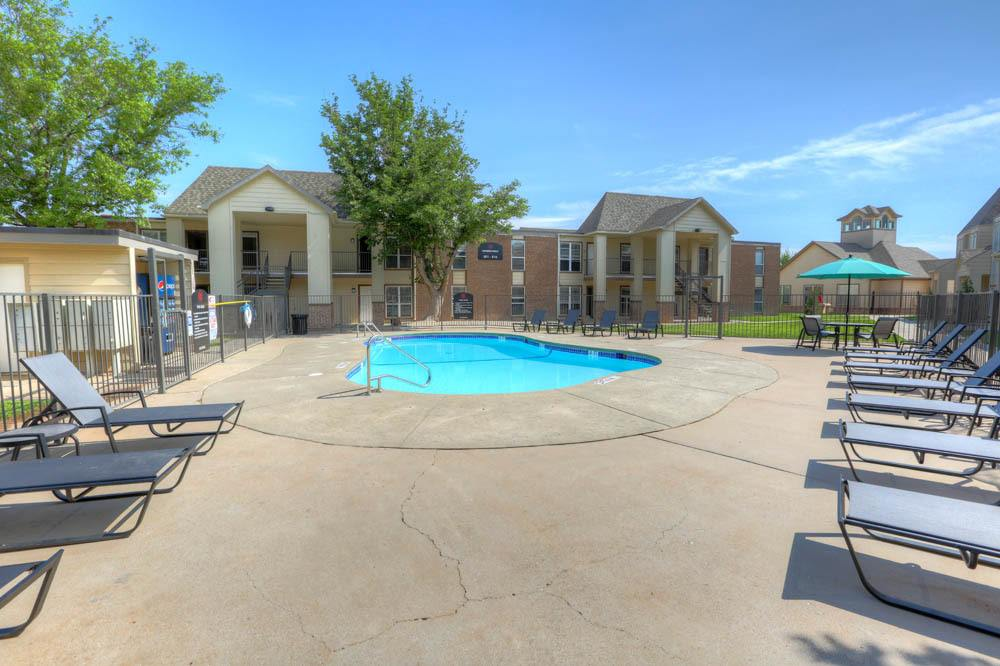 Outdoor pool at Lubbock apartments
