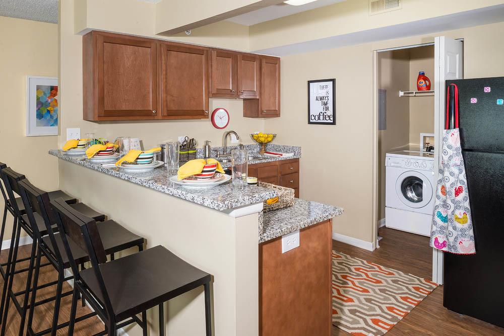 Full kitchen at apartments in oxford
