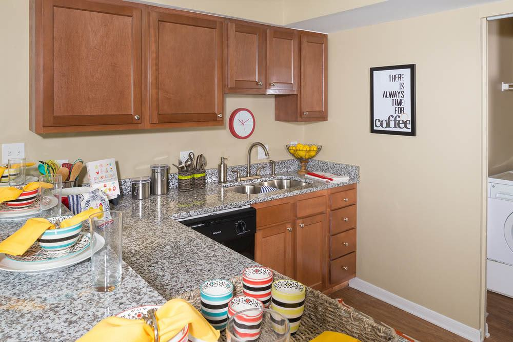 Bright kitchen at Hawks Landing Apartments in Oxford