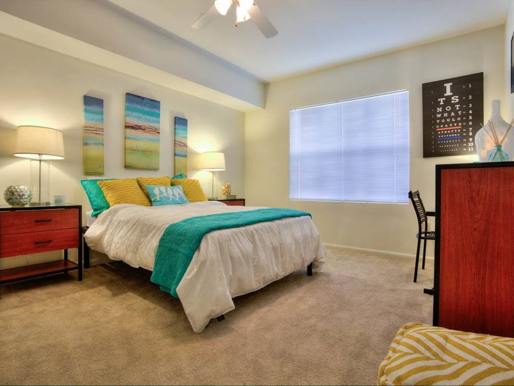 Bright bedroom at Legacy Student Living in Tallahassee
