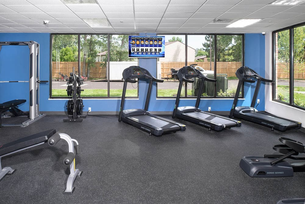 Fitness center at University Hills in Toledo