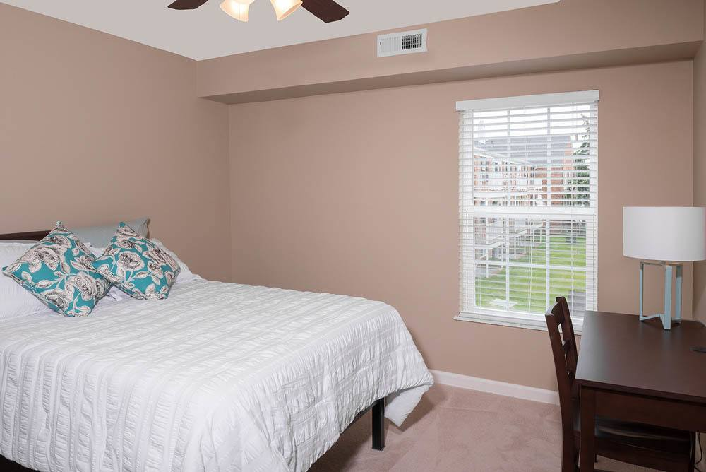 Furnished bedroom at University Hills in Toledo