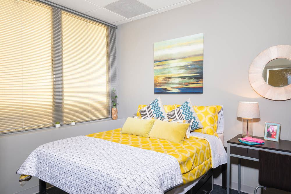 Bright bedroom layout at Apartments in Dekalb