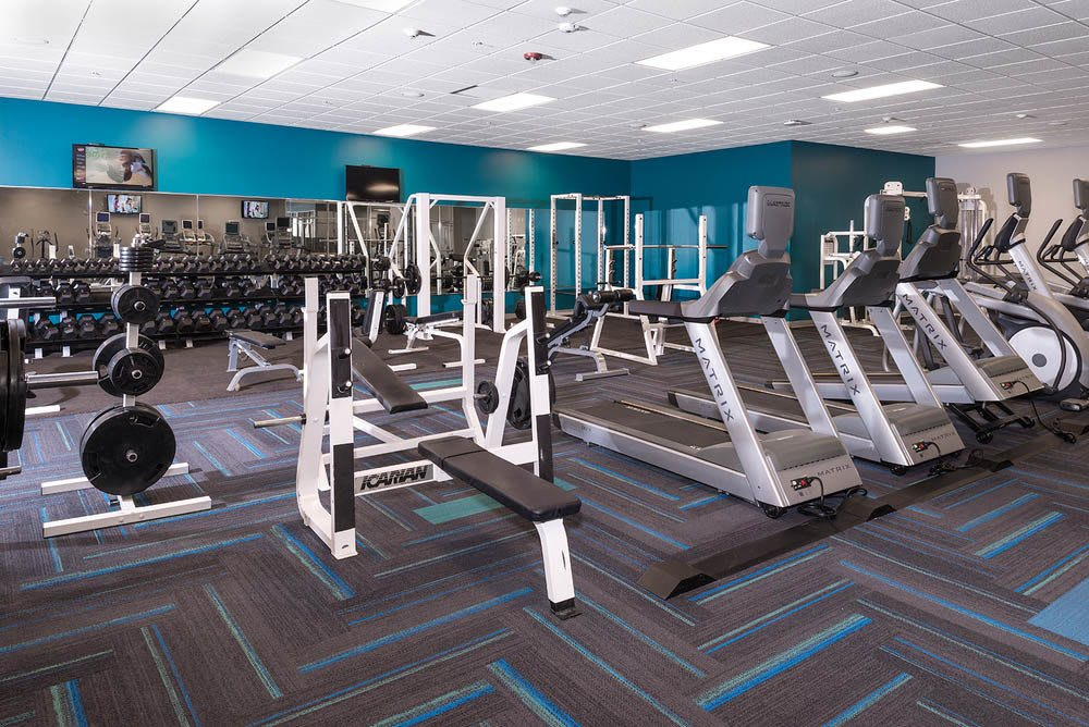 Fitness center at University Plaza in Dekalb