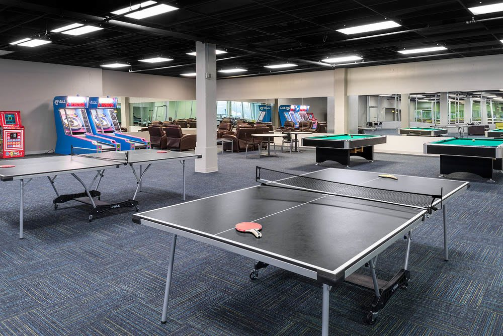 Ping pong tables at apartments in Dekalb