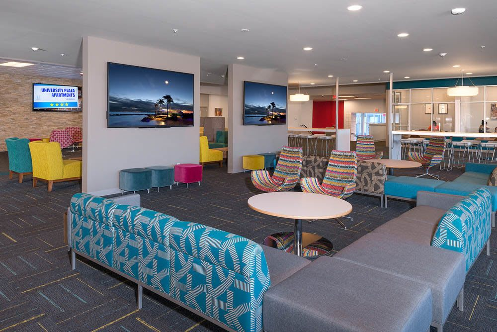 University Plaza in Dekalb Lounge Area