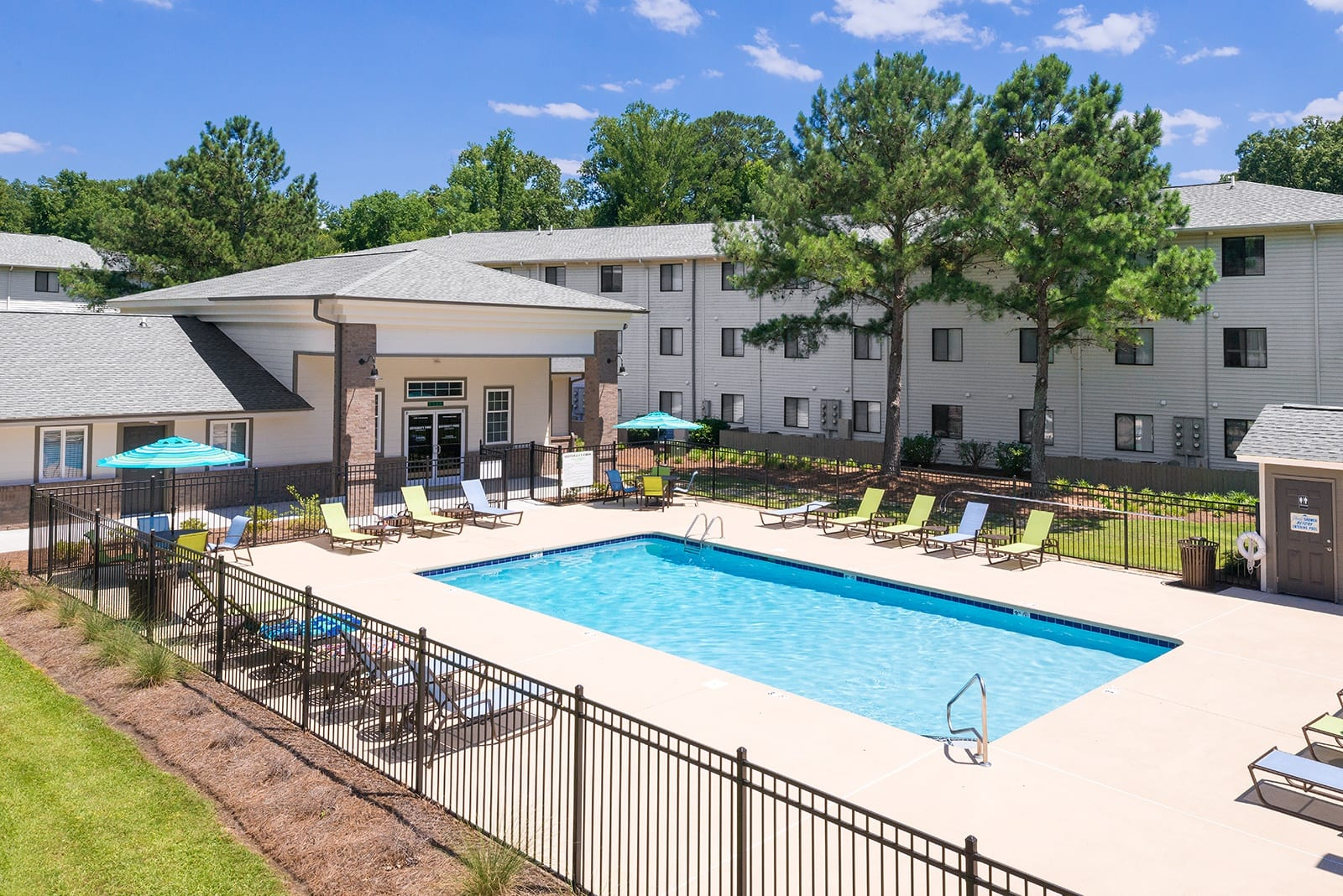 Outdoor pool at Apartments in Greenville