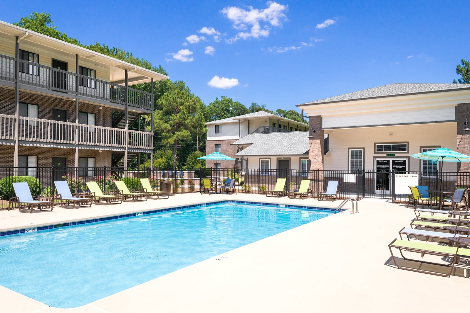 Sparkling pool at Apartments in Greenville