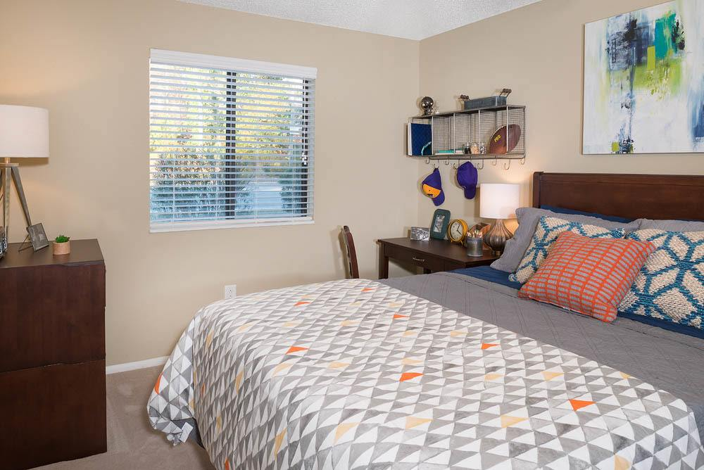 Welcoming bedroom at Apartments in Greenville