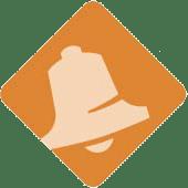 Orange bell icon