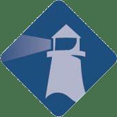 Blue lighthouse icon