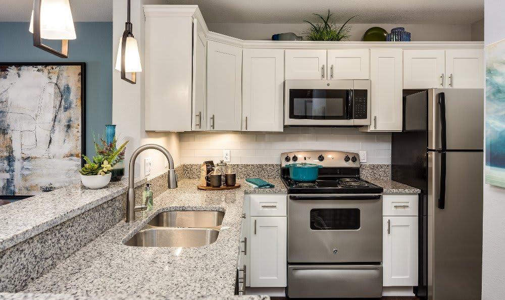 Modern kitchen at Auburn Gate in Auburn Hills