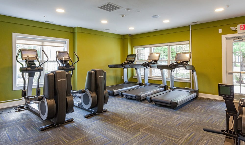 Fitness room at Auburn Gate in Auburn Hills