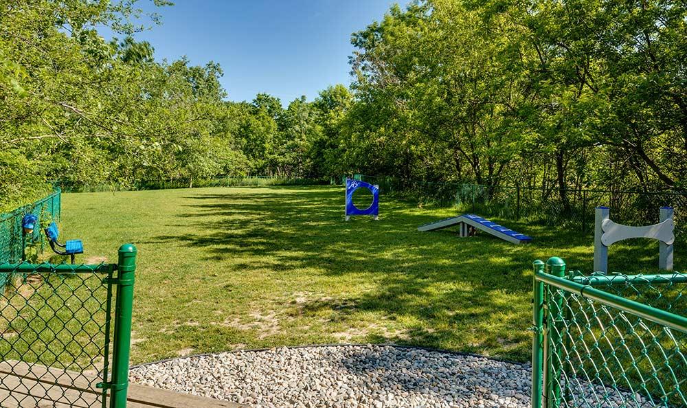 On-site bark park at Auburn Gate in Auburn Hills
