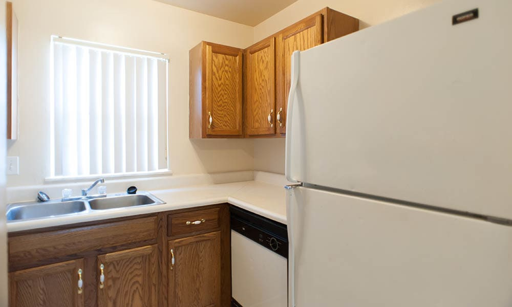 Looking at the kitchen inside apartments in Fort Wayne
