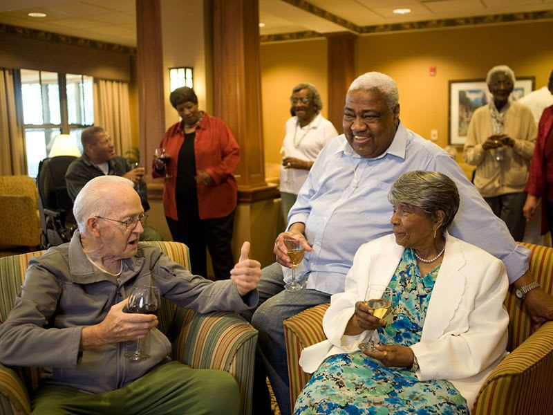 Residents at a Pathway to Living senior living community