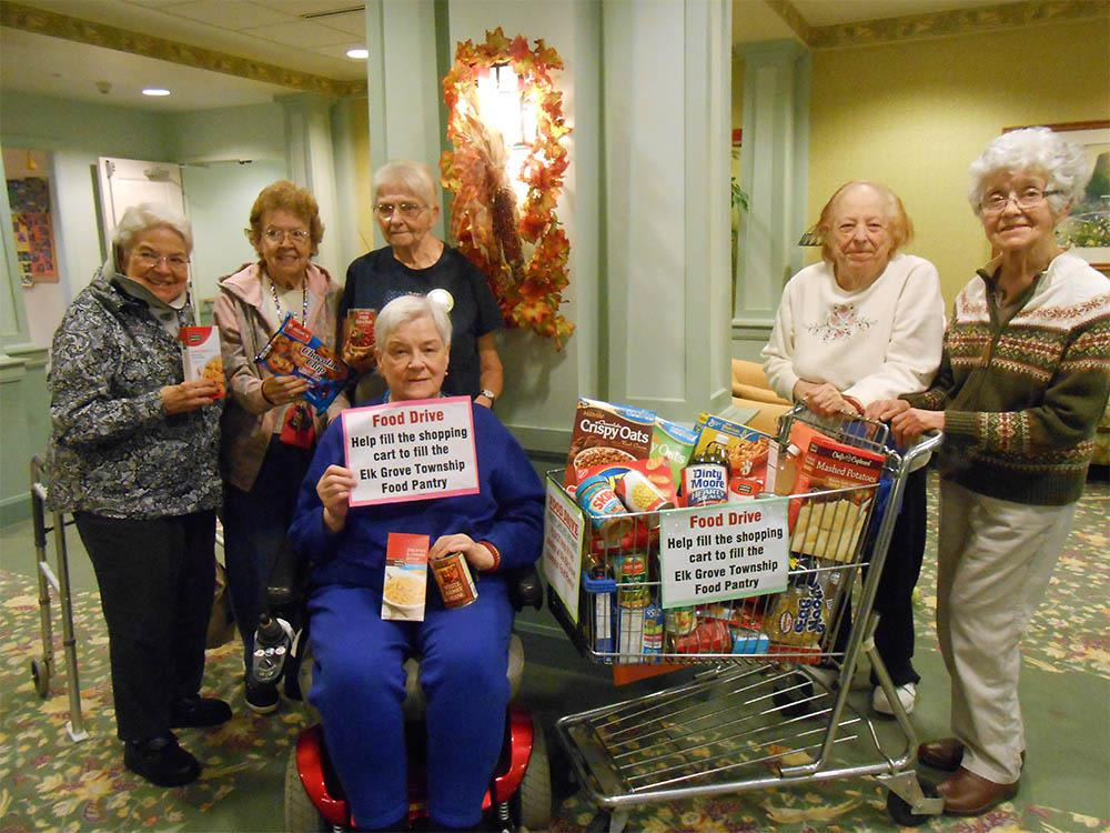 Senior Assistance Food Drive In Elk Grove