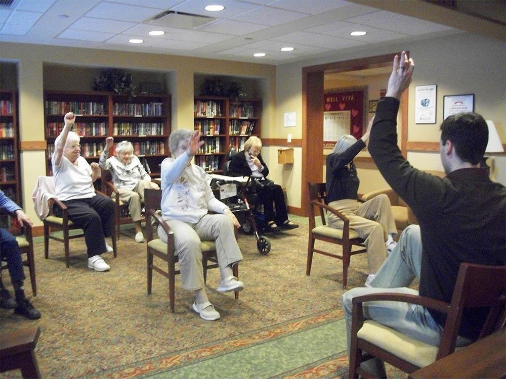 Residents being part of our exercises at Victory Centre of Bartlett in Bartlett, IL
