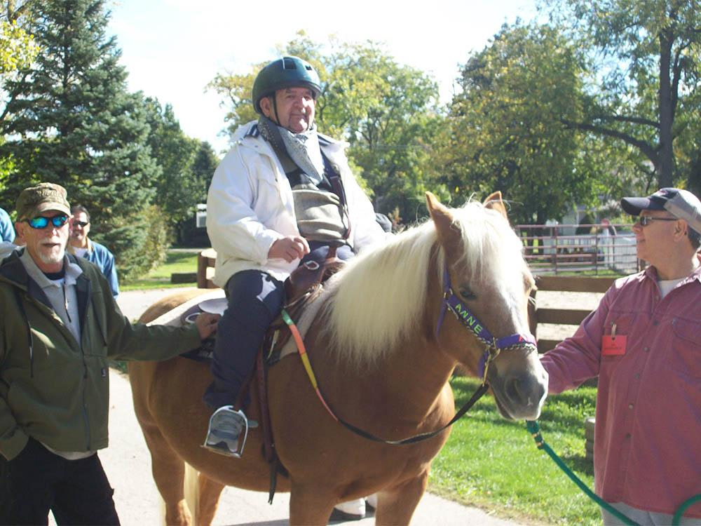 Victory Centre of Joliet Senior On Horseback in Joliet