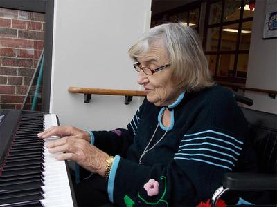 Senior at Victory Centre of Joliet Playing Piano in Joliet
