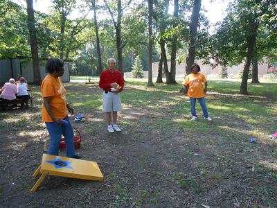 Seniors Playing Outdoors at Victory Centre of River Oaks in Calumet City