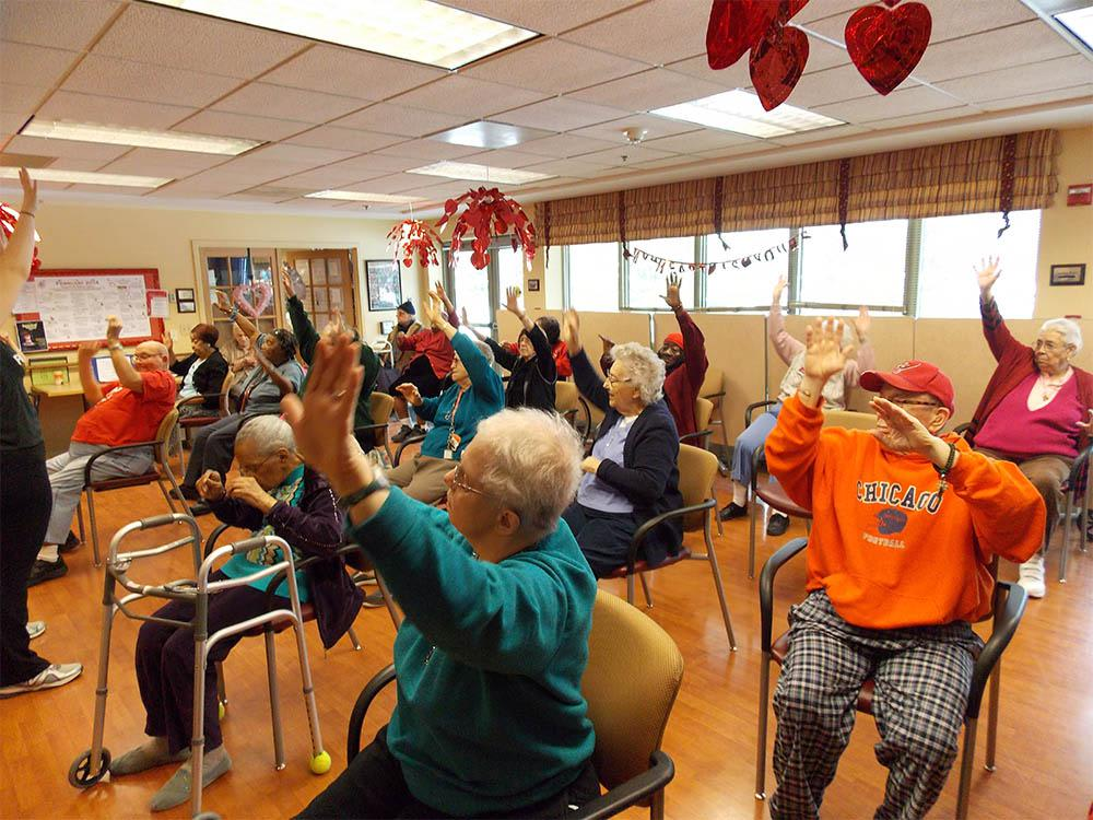 Senior Zumba Class at Victory Centre of River Woods in Melrose Park