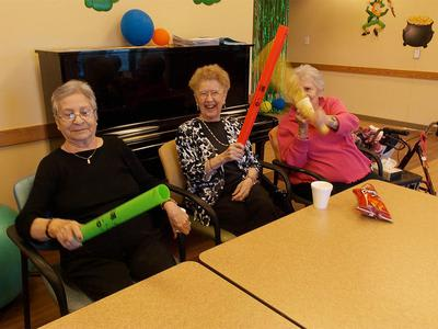 Senior residents being part of activities in Vernon Hills, IL