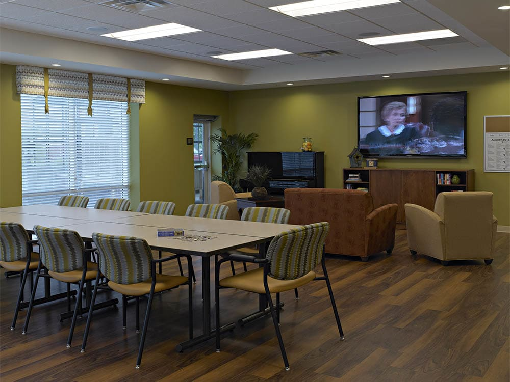 Activity and entertainment area  at Oak Hill Supportive Living Community