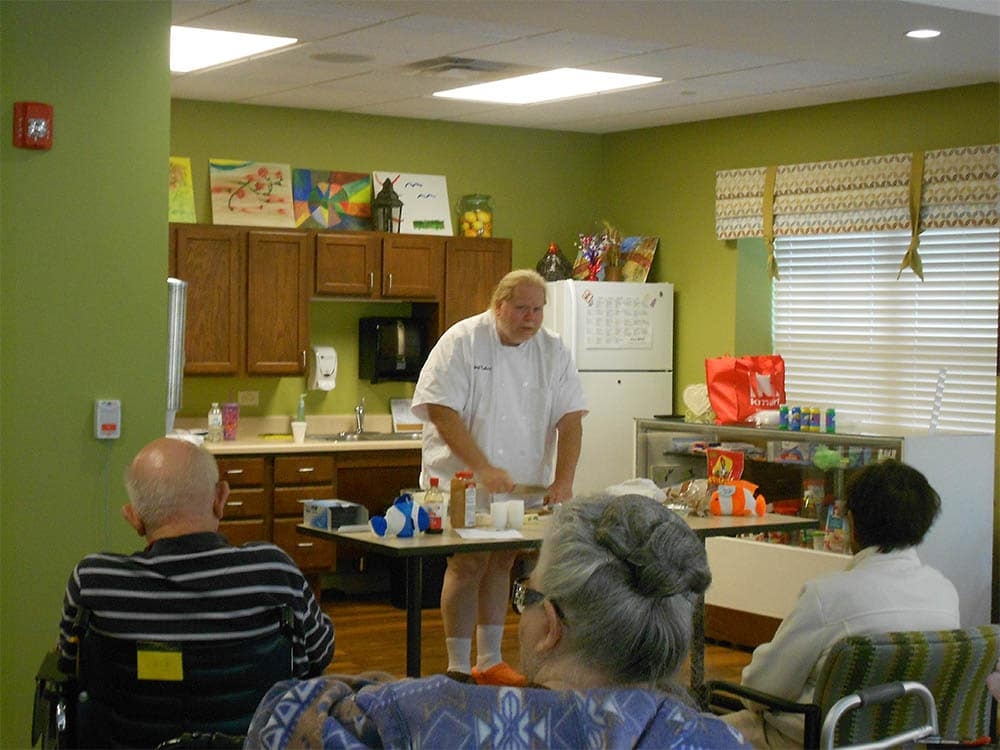 Senior living residents at Oak Hill Supportive Living Community