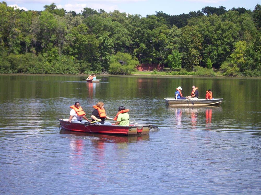 Seniors of Round Lake Beach, IL out kayaking
