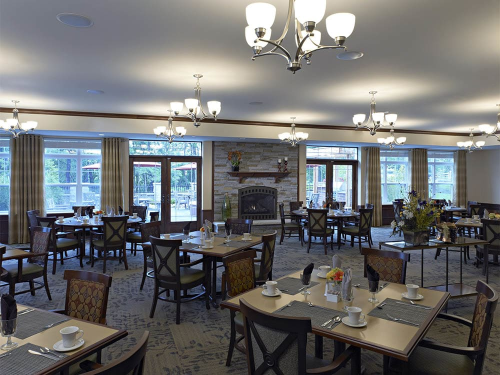 Community dining room at Oak Hill Supportive Living Community