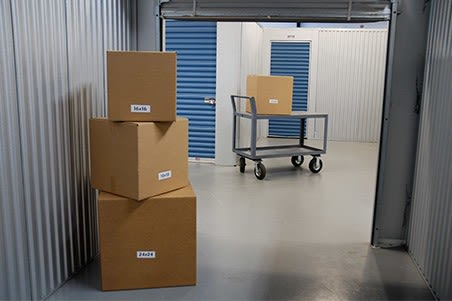 Boxes and storage at Tampa Bay Self Storage