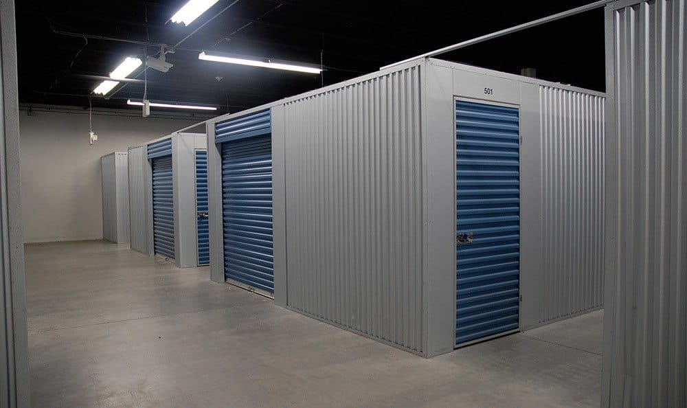 Secure gated units at self storage at Wesley Chapel Storage