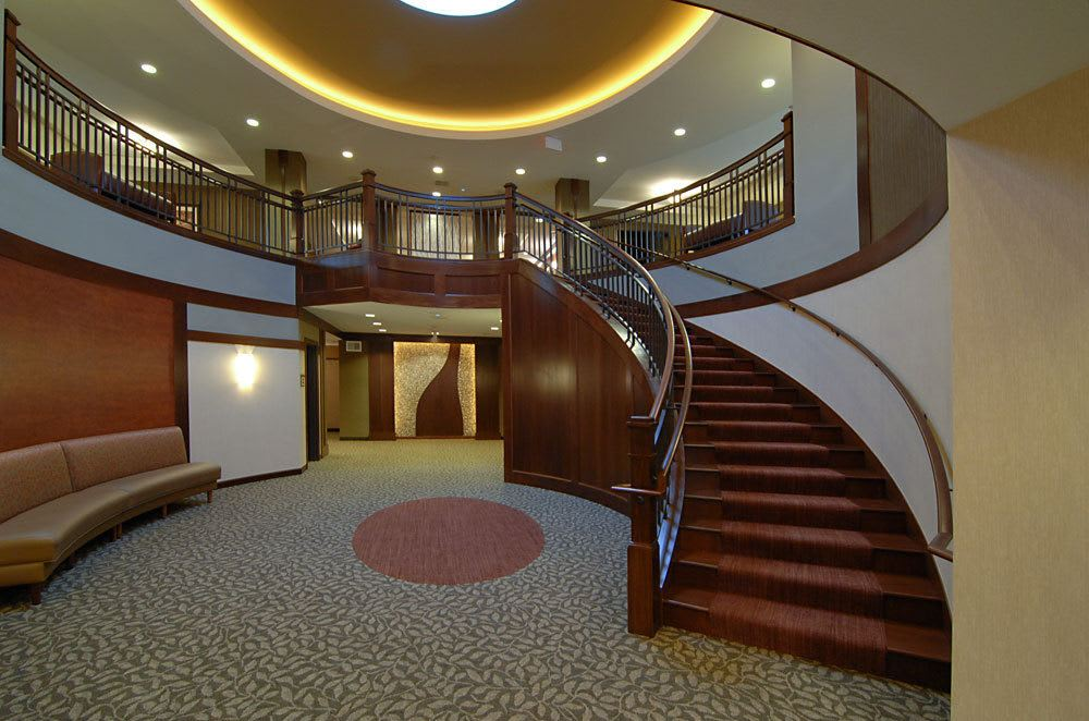 An elegant staircase at The Glenn Minnetonka
