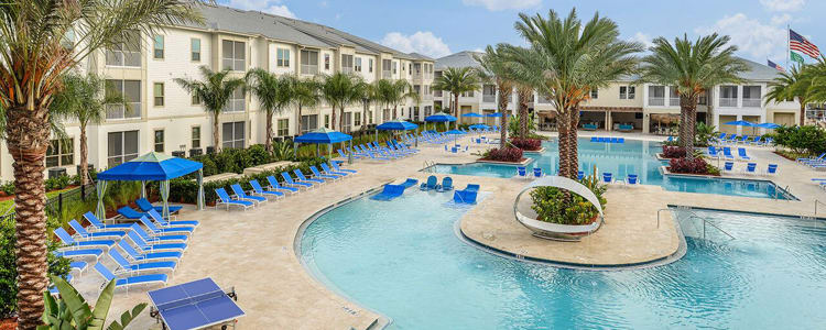 Living at Palm Bay Club includes a resort-style pool