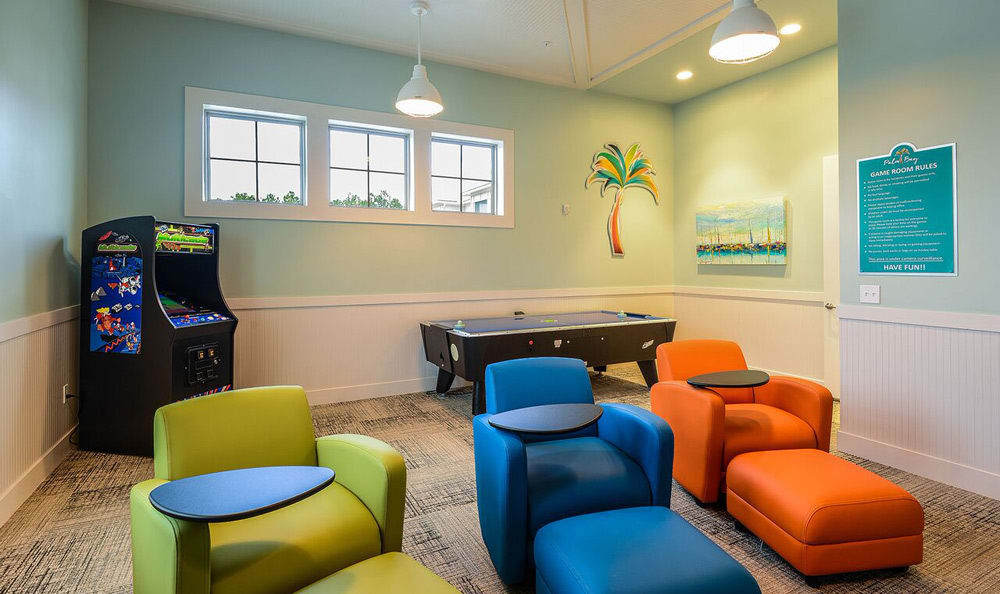 Living at Palm Bay Club includes a kids playroom!