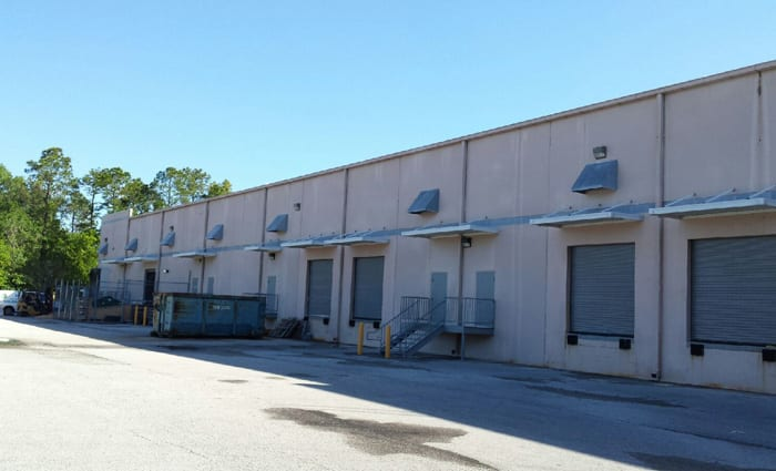 Back exterior of 5952 Perimeter Commerce in Jacksonville, Florida